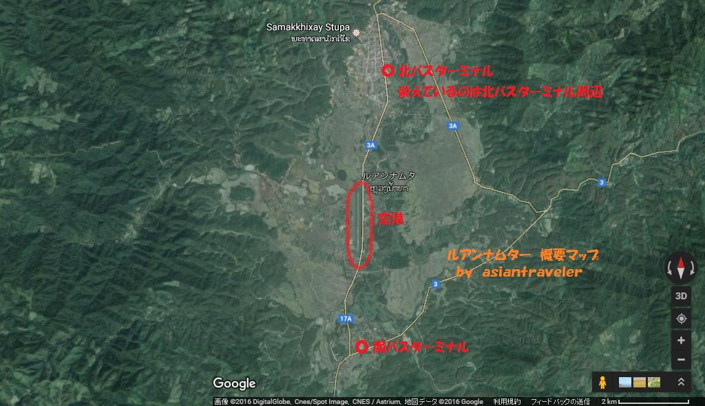 ルアンナムター地図