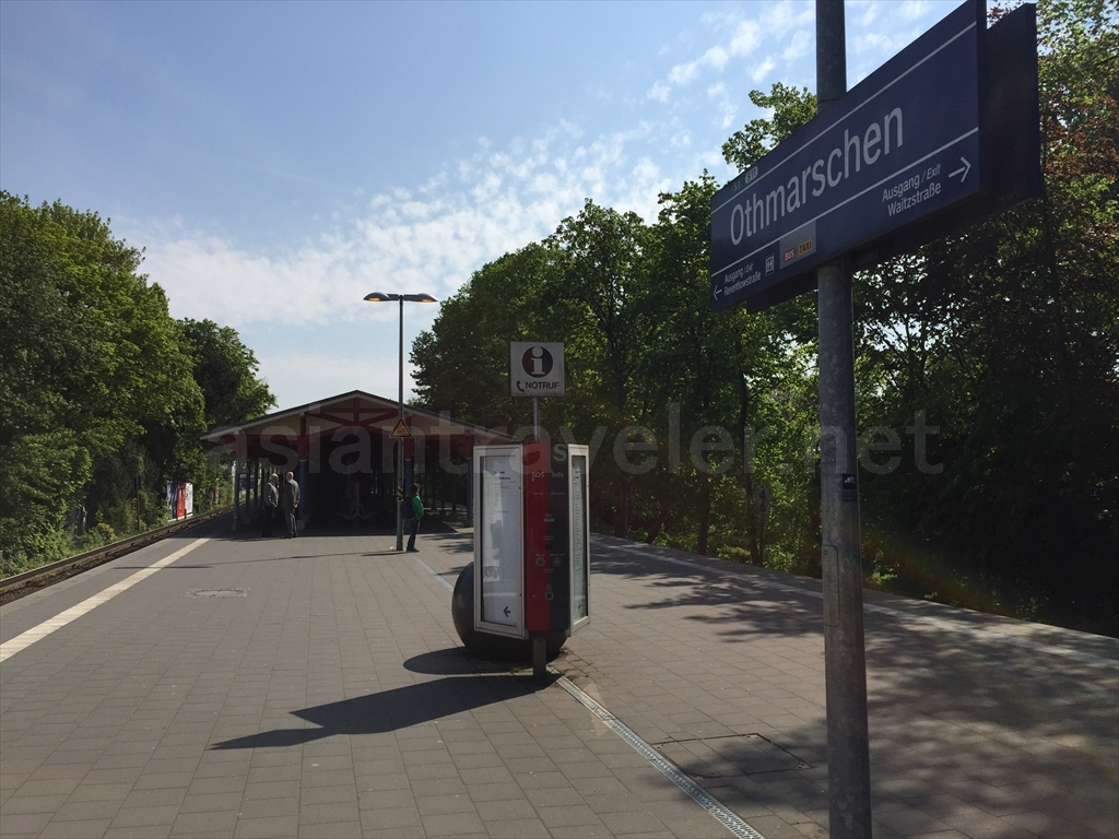 Othmarschen駅のプラットホーム
