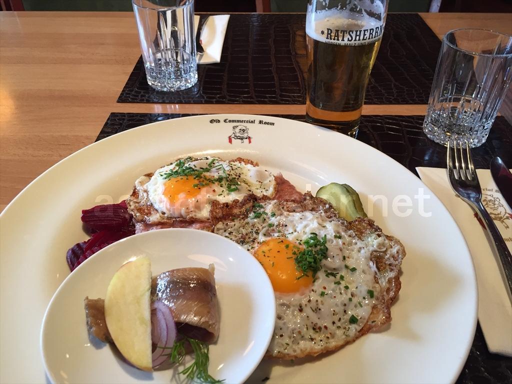 ハンブルクのレストラン「Old Commercial Room」
