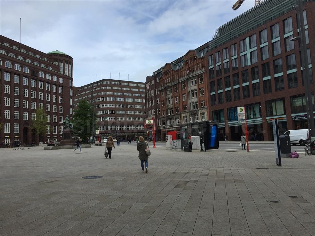 ハンブルク中心地の街並み