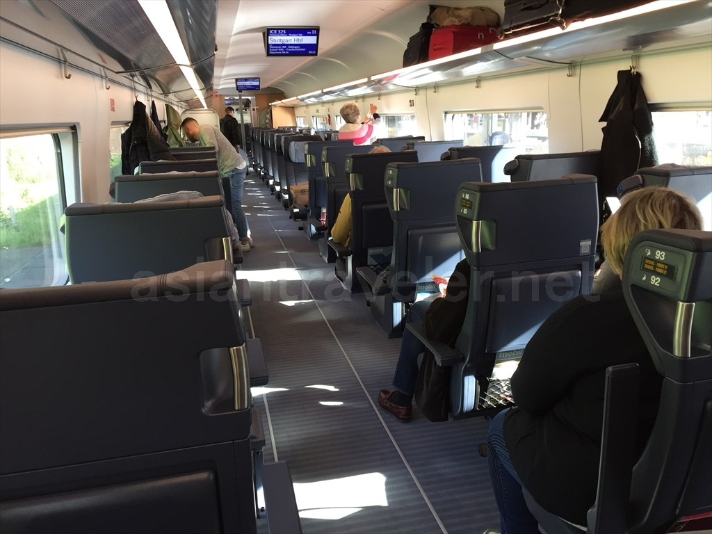ドイツの特急列車ICEの一等車