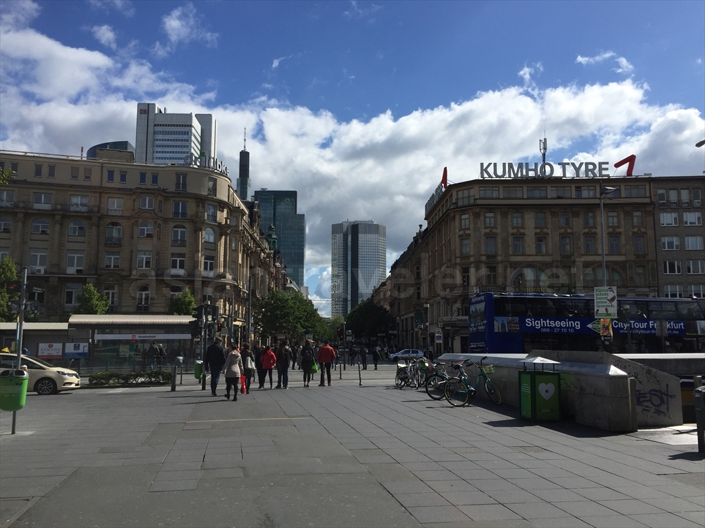 フランクフルト中央駅付近